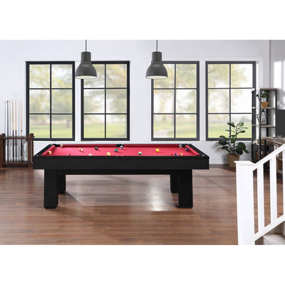 Brookline 7ft Pool Table with Storage Drawer, Black