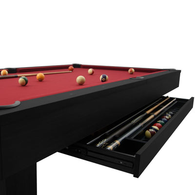 The Brookline 7ft Pool Table with Storage Drawer, Black