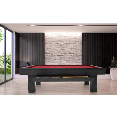 Brookline 8ft Pool Table with Storage Drawer in Kona