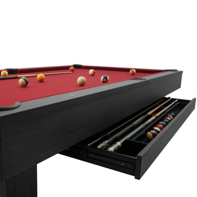 Brookline 7ft Pool Table with Storage Drawer, Kona