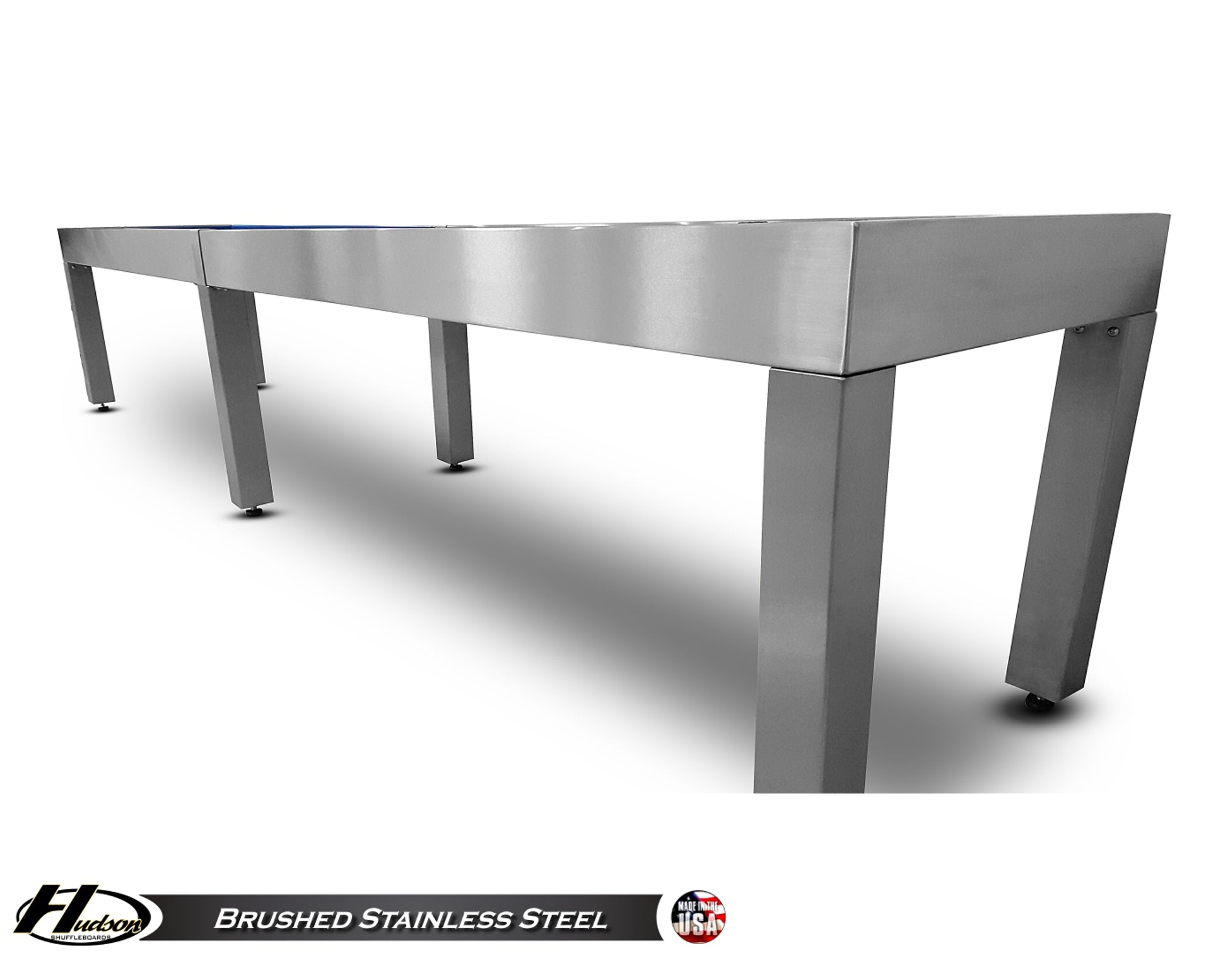 Brushed Stainless Steel Shuffleboard Table