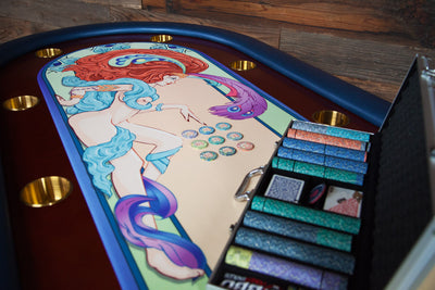 """Casino De Paris"" Rockwell Poker Game Table"