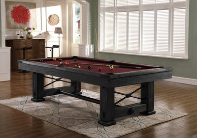 Rio Grande Slate Pool Table, Weathered Raven