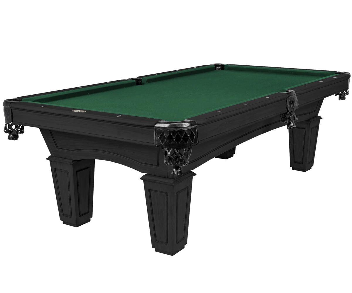 The Resolute Pool Table, Kona with Tapered Box Legs