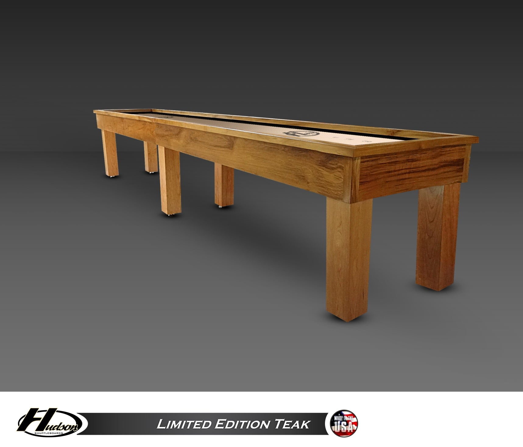 Teak Shuffleboard Table