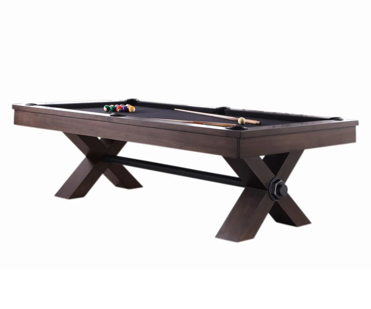 Vox Wood Pool Table in Grey Walnut