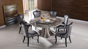 Faux Marble Top Round Dining Table