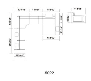 V5022 Sectional - Voguish Furniture
