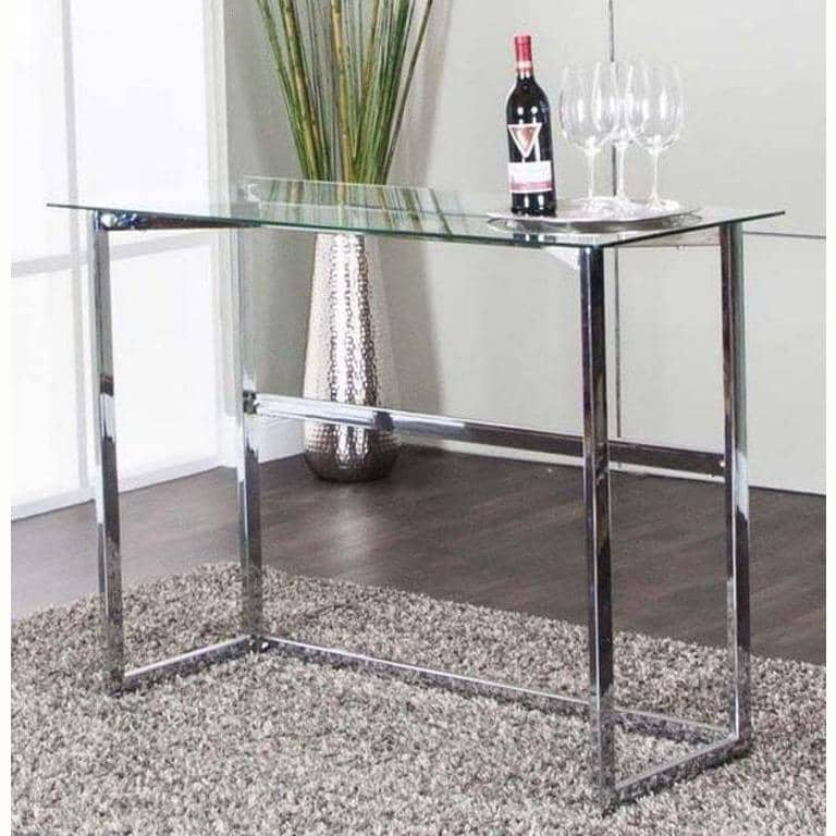 ABBOTT GLASS TOP BAR TABLE - Voguish Furniture