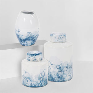 Aya Porcelain Tea Jar Set of 3 - Voguish Furniture
