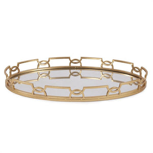 Bright Gold Metal Tray - Voguish Furniture