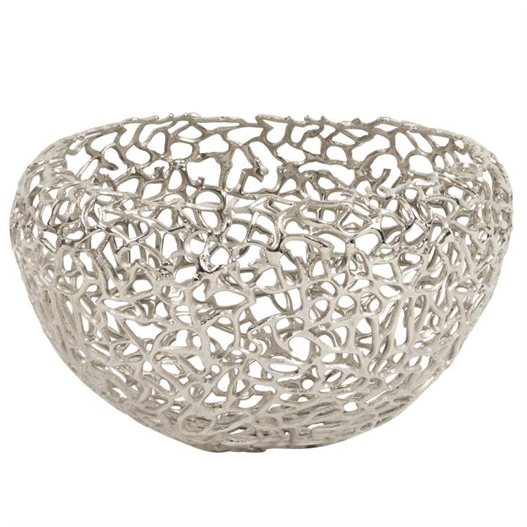 Bowl, Aluminum Basket - Voguish Furniture