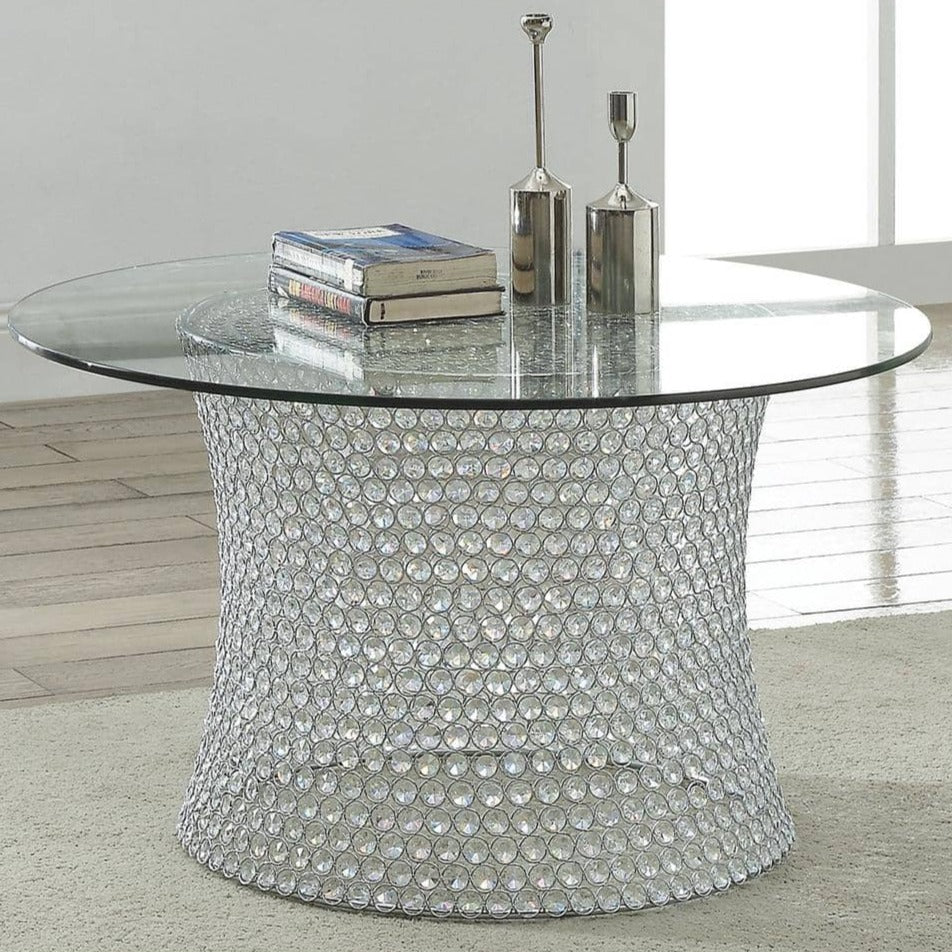 CRYSTAL COFFEE TABLE BASE/TOP - Voguish Furniture