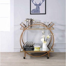 Load image into Gallery viewer, Champagne & Mirrored - Serving Cart - Voguish Furniture