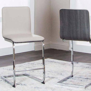 HOLDEN-CHAMP/CHRCL W/Chrome COUNTER HIGHT Chair - Voguish Furniture