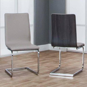 HOLDEN-CHAMP/CHRCL W/Chrome Side Chair - Voguish Furniture