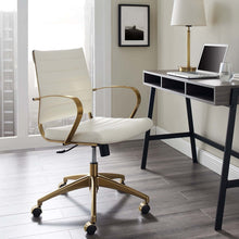 Load image into Gallery viewer, Jive Gold Stainless Steel Midback Office Chair - Voguish Furniture