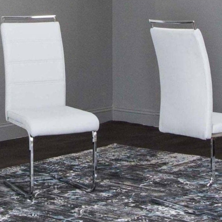 MANTIS LIGHT GRAY SIDE W/Chrome Side Chair - Voguish Furniture