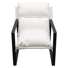 Load image into Gallery viewer, Miller Linen White Accent Chair - Voguish Furniture