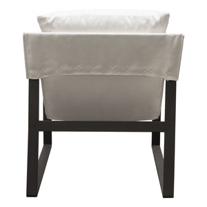 Miller Linen White Accent Chair - Voguish Furniture