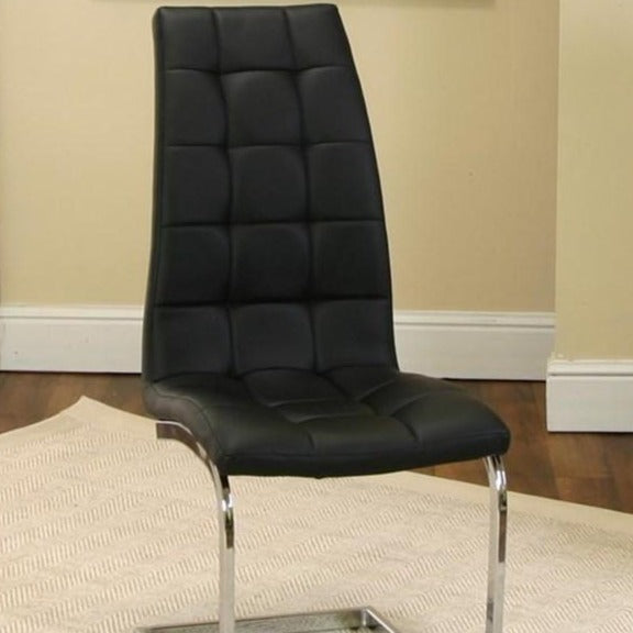 PADRIA-BLK CHROME W/Chrome Side Chair - Voguish Furniture