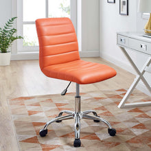 Load image into Gallery viewer, Ripple Armless Mid Back Vinyl Office Chair - Voguish Furniture