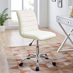 Ripple Armless Mid Back Vinyl - Voguish Furniture