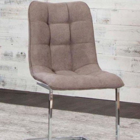TINA / RAFINA SIDE W/Chrome Side Chair - Voguish Furniture