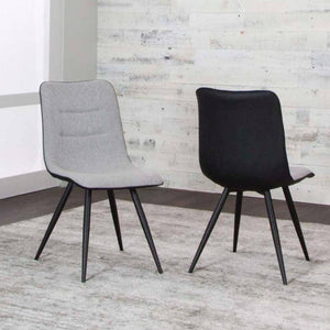 TRIPOLI GRY/BLK /Chrome Side Chair - Voguish Furniture