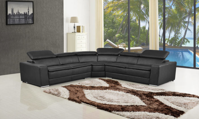 9636 Top Grain Italian Leather Sectional
