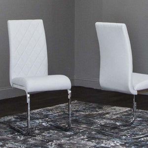 VENETO LIGHT GRAY Chrome Side Chair - Voguish Furniture