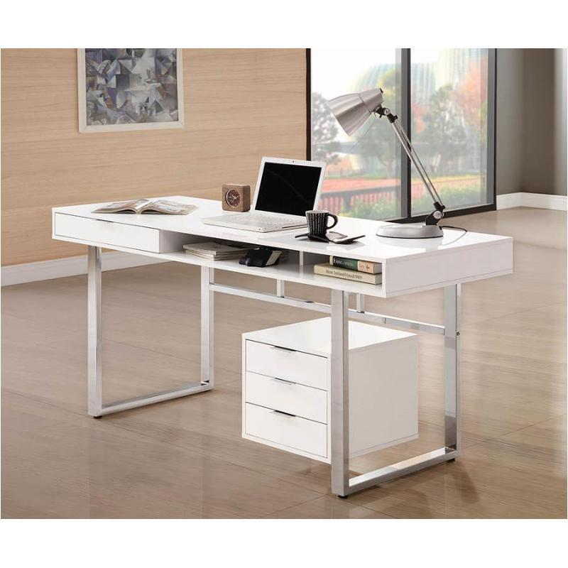 WRITING DESK WHITE GLOSSY SY - Voguish Furniture