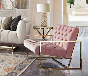 Luxe Blush Accent Chair - Voguish Furniture