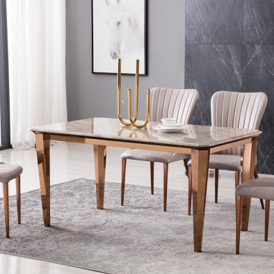 Faux Marble Dining Table(1) - Voguish Furniture