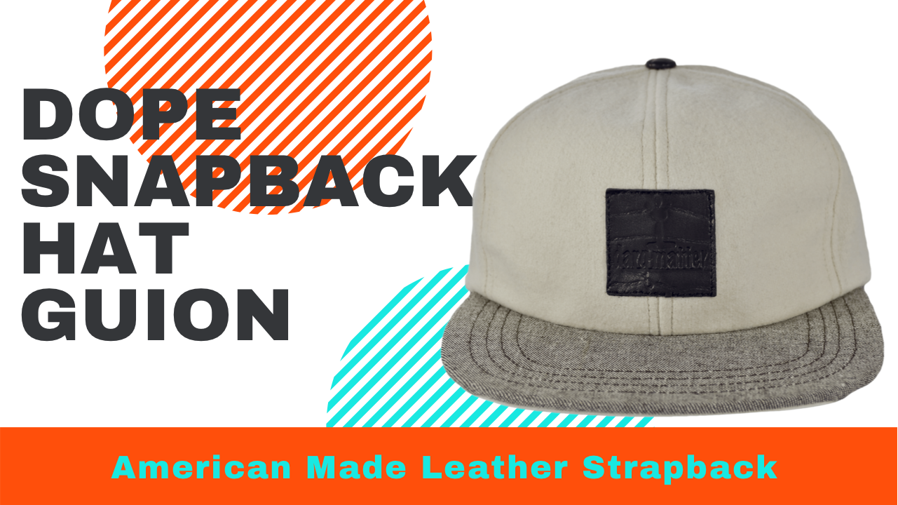 American Made Leather Strapback Hats