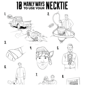 bows-n-ties: 10 Manly Ways To Use Your Necktie