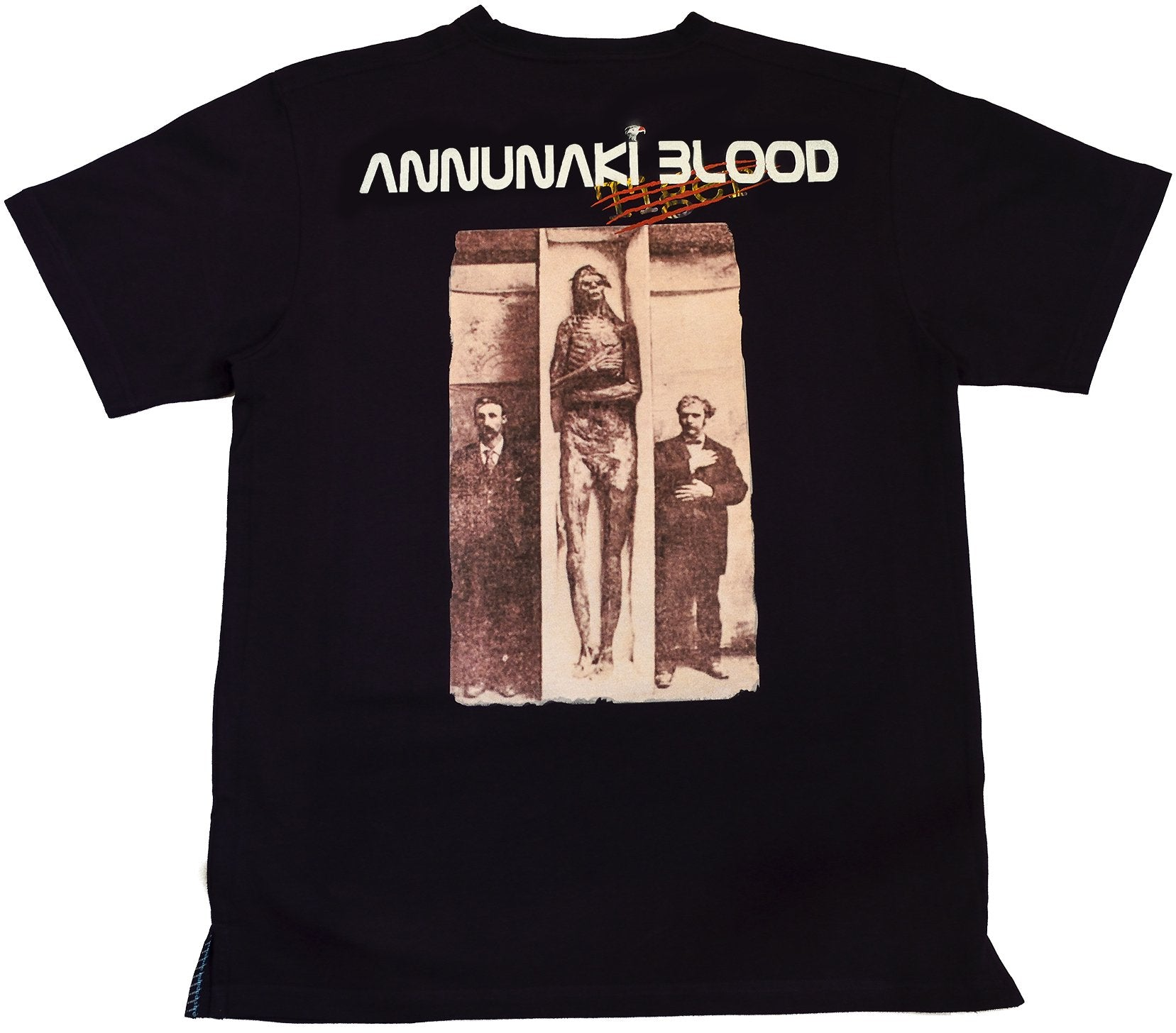 DarqMatterDesign CutnSew T-Shirts Small / Black Annunaki Blood