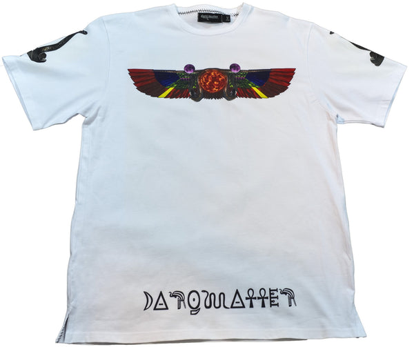 DarqMatterDesign CutnSew T-Shirts Small / White Amen-Ra