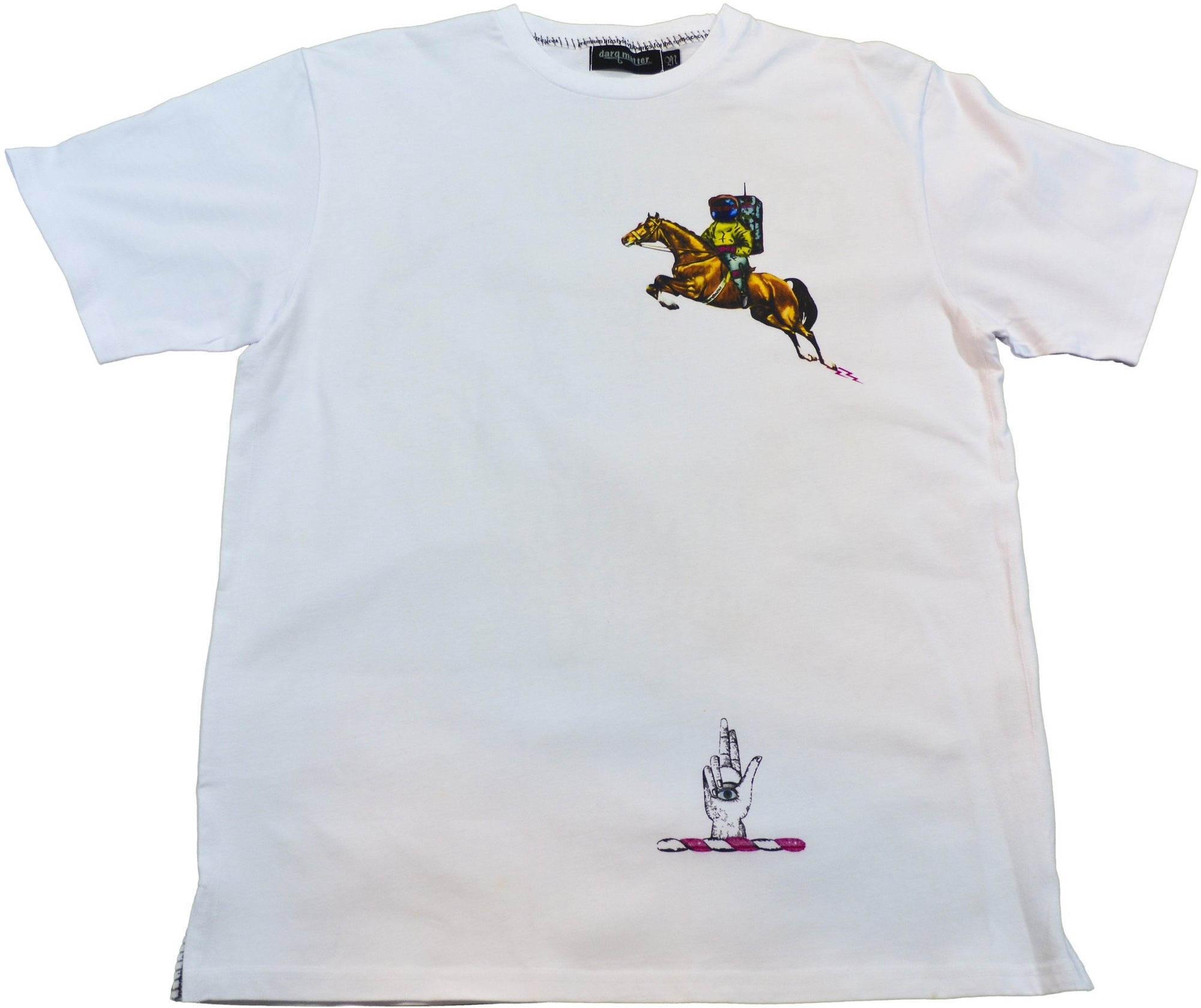 DarqMatterDesign CutnSew T-Shirts Small / White ThoroughBred