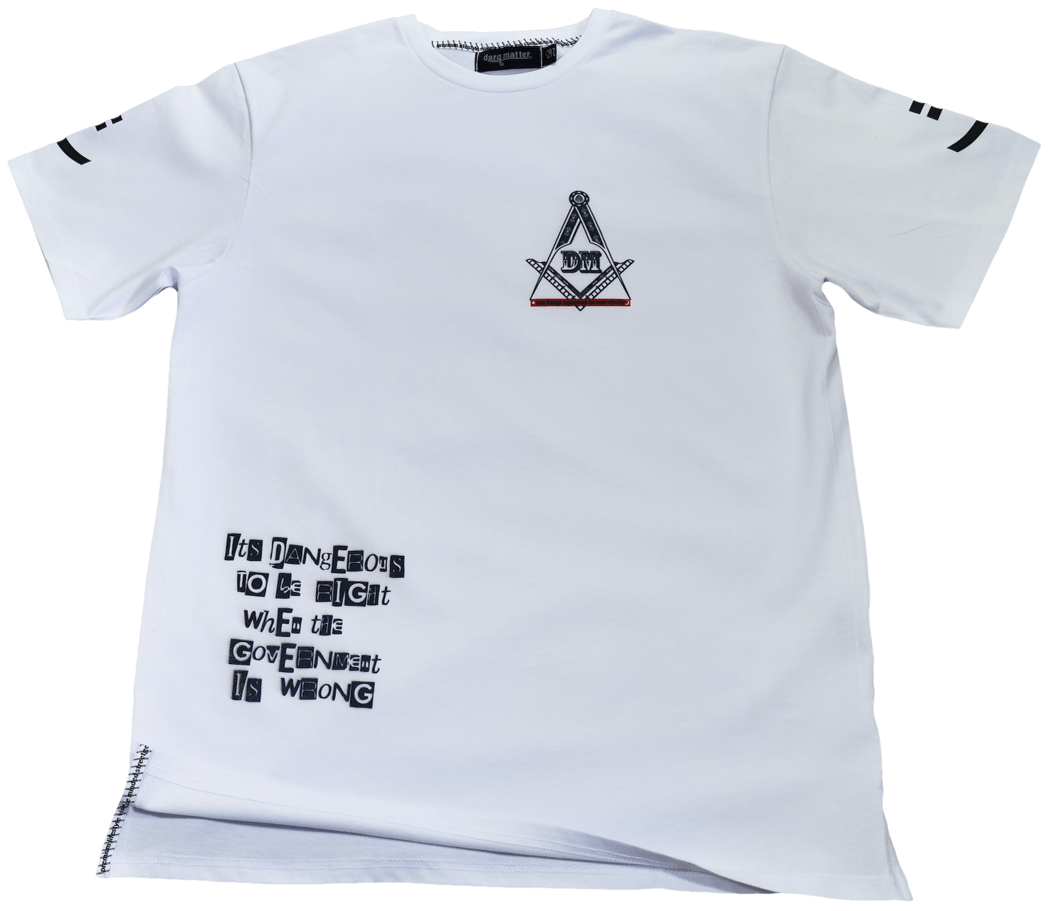 DarqMatterDesign CutnSew T-Shirts Small / White Voltaire