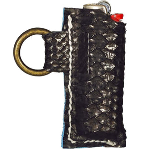 DarqMatterDesign Leather Goods Black / Fits All Standard Size Bic Lighters Enki (Black Draco)