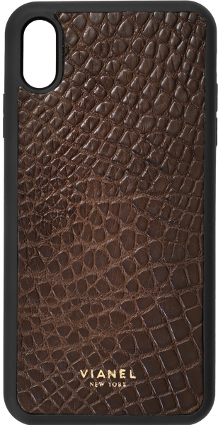 iPhone Xs MAX Flex Case - Alligator - Dark Brown