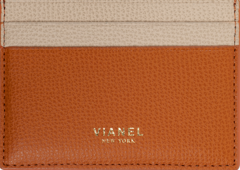 V3 Card Holder - Calfskin - Orange Creme