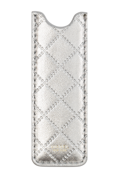 Vape Case - Lambskin - Silver Quilted