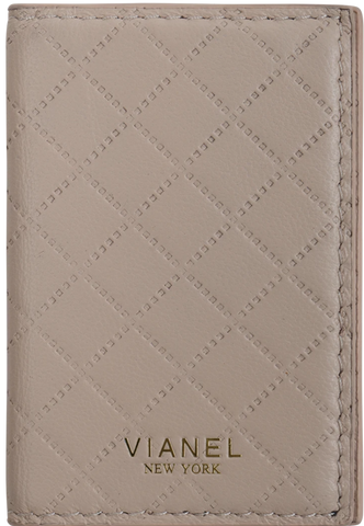 V2 Folding Card Holder - Lambskin - Blush Quilted