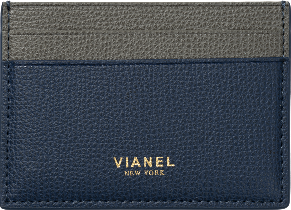 V3 Card Holder - Calfskin - Navy Grey