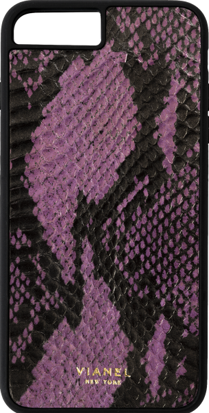 iPhone 8 Plus Flex Case - Snake - Purple With Black