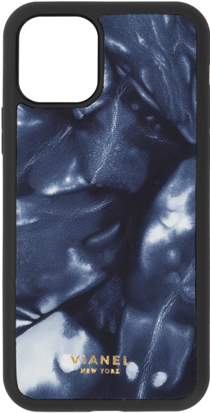 iPhone 11 Pro Flex Case - Calfskin - Denim Tie Dye