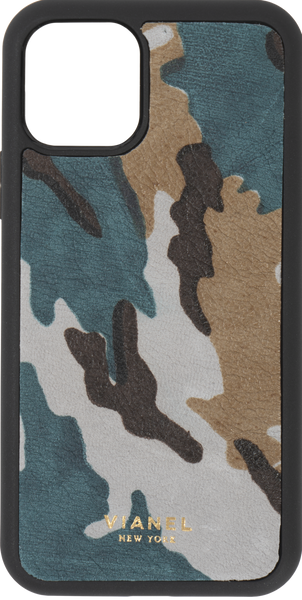 iPhone 11 Pro Flex Case - Calfskin - Teal Camo