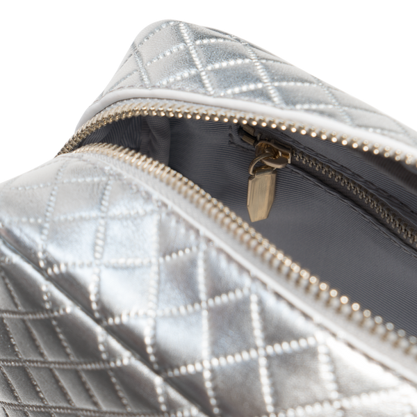 Lambskin / Silver Quilted